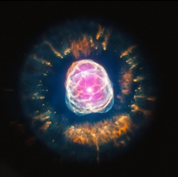 NASA, God's Universe, white dwarf, star, stars, white dwarf star, speed of light, Eskimo Nebula, NGC 2392, Going Green