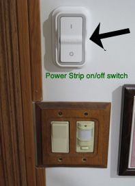 Surge protector, power kill switch, standby power, vampire consumption, Bill Lauto, Going Green, Going True Green, power strip