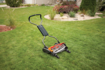 reel mower, cutting lawn, lawn, grass, lawn mowers, gas mowers, hand push mowers, going green, fiskars