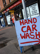 Car Wash, hand car washing, going green, rain water, save money, Wax on wax off, Karate Kid