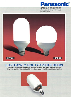 Panasonic, SL, SL-18 bulb, Philips, SL fluorescent, SL-18 Globe, SL-18 flood, energy saving bulbs, compact fluorescents, SL Lamp, efficient bulbs, going green, sustainable living, high hat, high hat down lighting, decorative lighting, general lighting, Earth Day, EarthDay, Earth Day 1990, Earth Day 20th Anniversary, Bill Lauto, giant fluorescent bulb, save money, save energy, going green, going true green, sustainable living, sustainability, compact fluorescents, Lighbulb Hotline