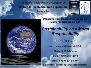 Climate Change, Institute of Science and Faith, Father Pascual, Sustainability, Bill Lauto, Going Green, Pontificio Regina Apostolorum